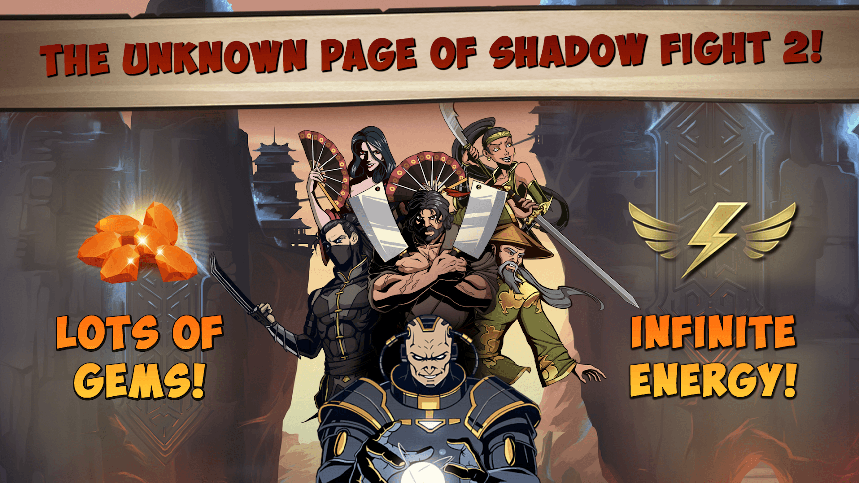 Lots of Gems and Infinite Energy of Shadow Fight 2 Special Edition